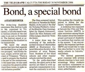 Bond a special bond, The Telegraph