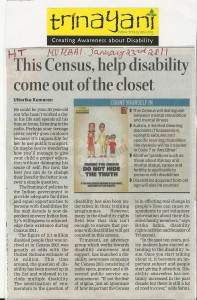 Census press publicity, Hindustan Times Mumbai
