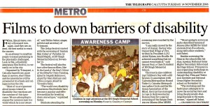 Films to down barriers of Disability, The Telegraph