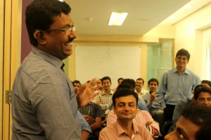 Self Advocate Thomas Jacob responding to a question by Shamit Garg of Loreal