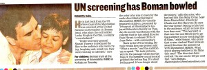 UN screening bowled Boman, Hindustan Times