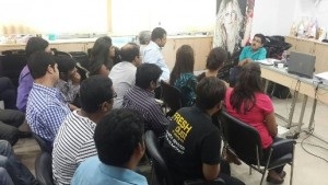 Wheelchair User, Popular RJ and Self Advocate, Den, taking a session at L'Oreal Kolkata.