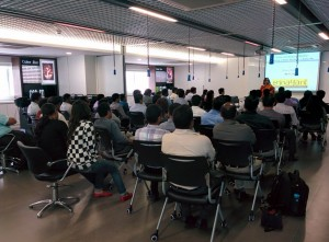 Ritika conducting a workshop for L'Oreal at their office in Bangalore