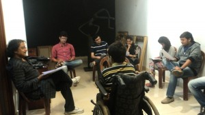 Director Ashok Singh and the Cast of YHDMJ rehersing the play