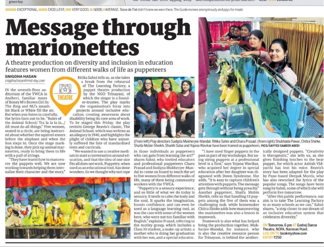 Learning Factory article in MIDDAY